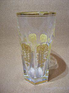 2種の金彩グラス欠け