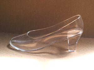 靴と履物展出品ガラスの靴