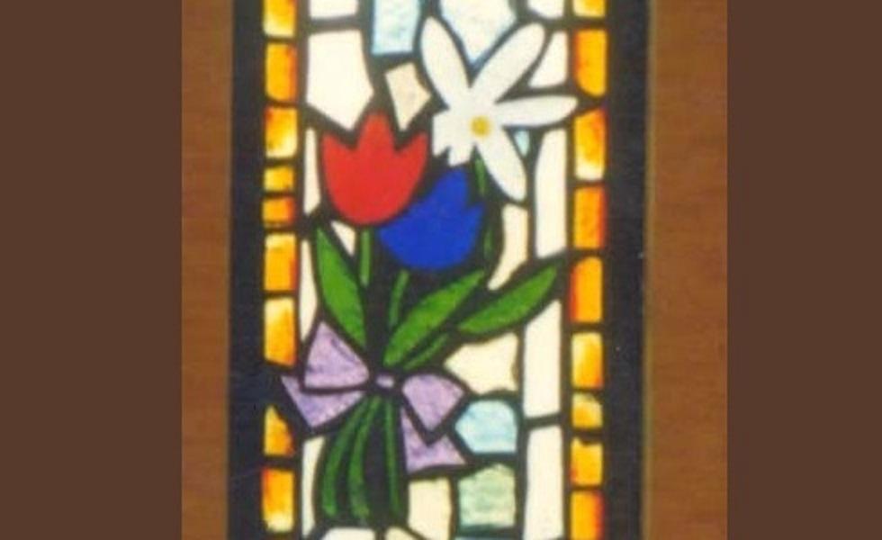 花束のステンドグラス